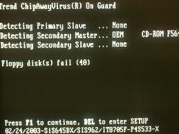 Floppy Disk fail (40) Hatası ve Çözümü