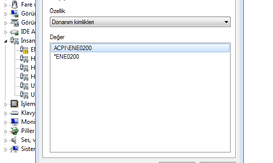 Toshiba ACPI\ENE0200 hatası çözümü