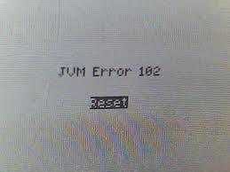JVM Error 102