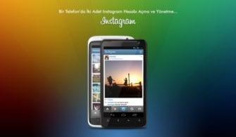 aynı telefonda iki instagram hesabı