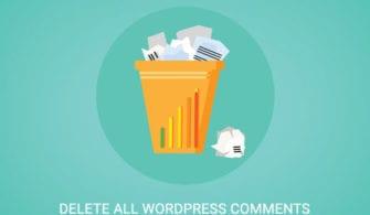WordPress tüm yorumları tek tıkla silme