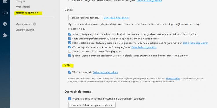 Opera VPN nasıl kullanılır