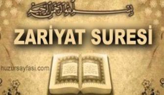 Zariyat Suresi Önemi, Latin Harfli ve Arapça Okunuşu ve Türkçe Meali
