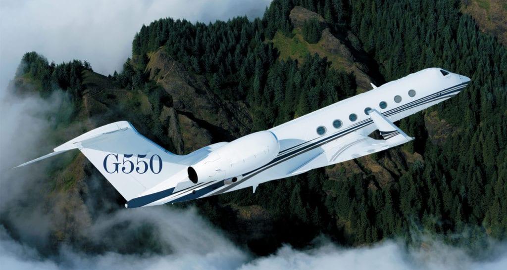 Gulfstream G550 uçağı