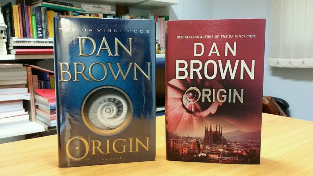 Başlangıç adlı romanın Origin adıyla piyasaya sürülen orijinal kapakları