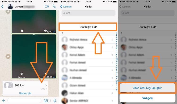 WhatsApp üzerinden gönderilen Android rehber yedeğinin olduğu mesajı açıp tıkladığınızda rehber iPhone cihazınıza yüklenmiş olacaktır.