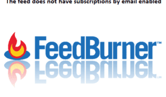 The feed does not have subscriptions by email enabled