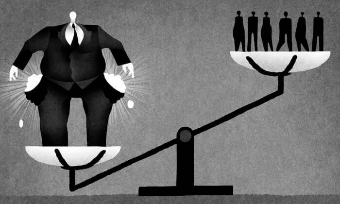 Eşitsizliğin bedeli kitabında yüzde 1 lik kesime çoğu yerde atıfta bulunuyor.