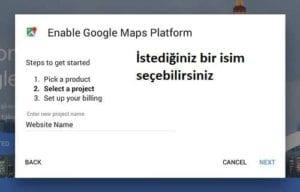 Google Haritalar Projelerinizi Oluşturun