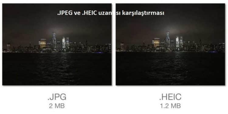 HEIC uzantılı dosyayı JPEG'e çevirme