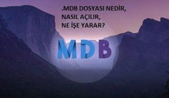 MDB dosyası örneği