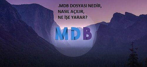 .MDB dosyası Nedir? Nasıl Açılır?