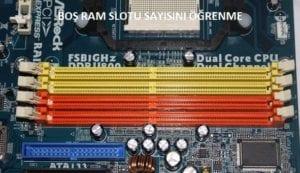 RAM görünümü bu şekilde