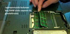 Laptopda RAM görünümü bu şekilde