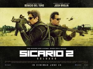 Sİcario: Day of the Soldado  film afişi bu şekilde.