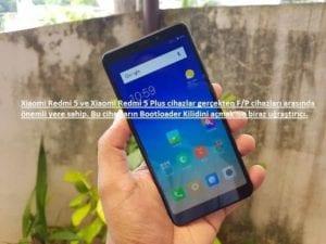 Xiaomi Redmi 5 Bootloader Kilidi Açma