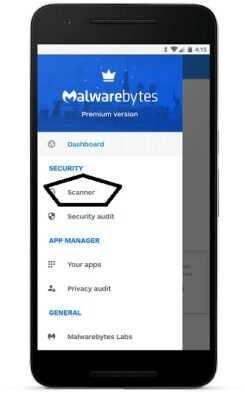 MalwareBytes mobil uygulaması üzerinde Scanner seçeneği ile arama yapabilirsiniz. Böylelikle sürekli reklam çıkıyor derdinden kurtulabilirsiniz.