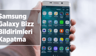 Samsung Galaxy Bizz Bildirim Kapatma