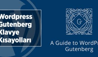 Gutenberg Klavye Kısayolları