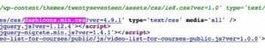 dashicons.min.css dosyası kodlar arasına böyle saklanıyor işte.
