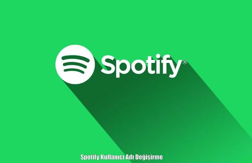 Spotify Kullanıcı Adı Değiştirme