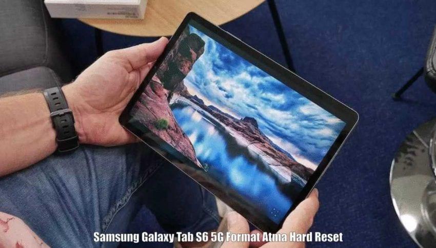 Samsung galaxy Tab S6 5G Format Atma