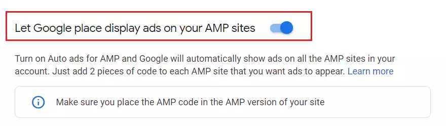 Wordpress AMP reklamlarını eklemek için Google Adsense panelinde AMP kodlarını aktif hale getirmelisiniz.