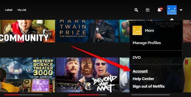 Netflix filmleri gizleme işlemi için hesabınıza giriş yapın.