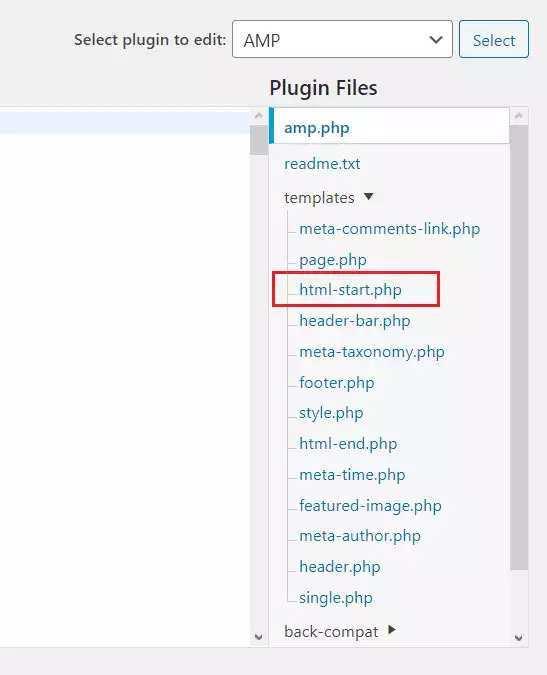 Eklenti kodları üzerinde ekleme yapmak için yukarıdaki php uzantılı dosyayı açıyoruz, sonrasında AMP Google Adsense otomatik reklam kodunu buraya ekleyeceğiz.
