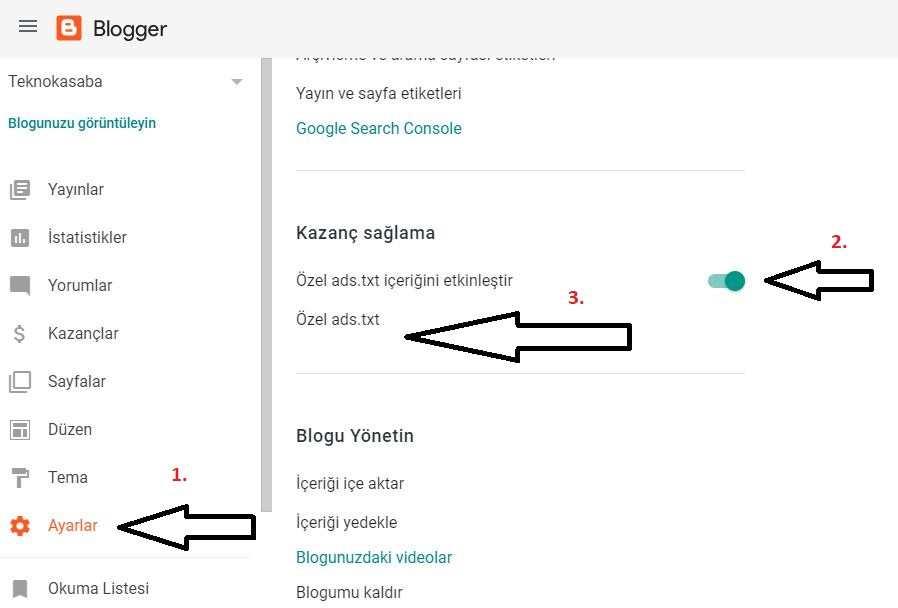 Ads.txt dosyasını Blogger'a eklemek için yukarıdaki adımları takip edebilirsiniz.