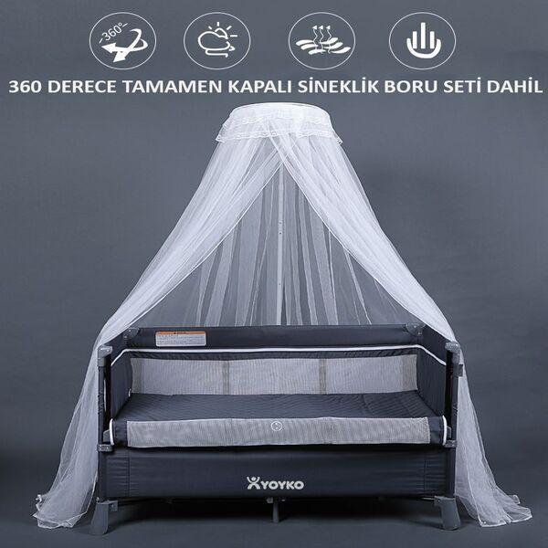 Yoyko Exclusive Comfort 8 in 1 Park Yatak Oyun Parkı görünümü bu şekilde.