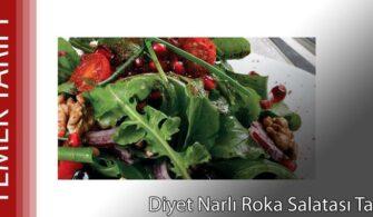 Diyet Narlı Roka Salatası Tarifi