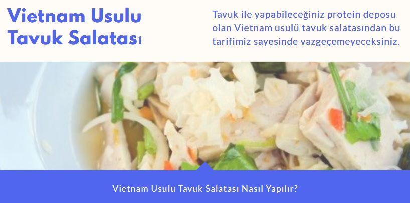 Vietnam Usulü Tavuk Salatası