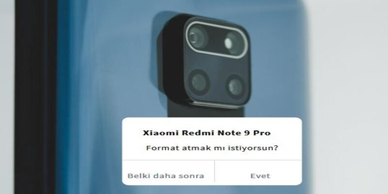 Redmi Note 9 Pro Format