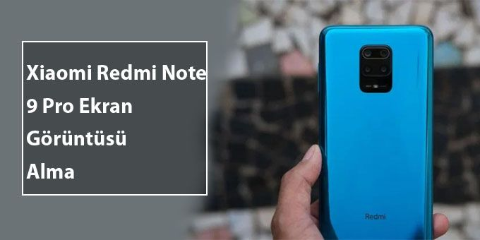 Xiaomi Redmi Note 9 Pro Ekran Görüntüsü